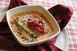 Холодный летний суп с раками