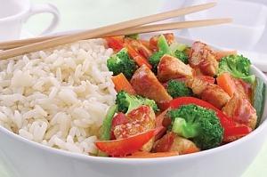 Курица с овощами и кешью