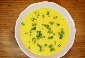 Суп-пюре из тыквы с рисом на бульоне