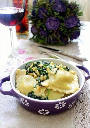 Равиоли с грибами и сыром