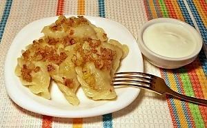 Постные вареники с картофелем