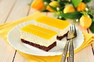 Творожный торт с апельсинами
