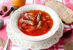 Рассольник с томатной пастой