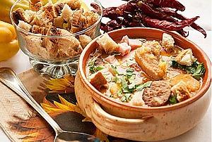 Гороховый суп со свиными ребрами