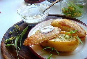 Запеченный картофель в фольге с начинкой