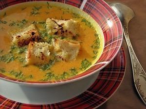 Тыквенный суп-пюре с имбирем и морковью
