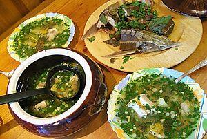 Рыбный суп со стерлядью