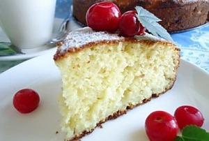 Лимонный кекс на молоке