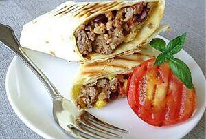 Кесадилья с мясом