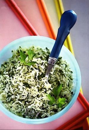 Розсипчастий рис із зеленню