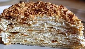 """Торт """"Наполеон"""" з заварним кремом"""