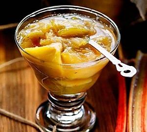 Ревенево-яблочное варенье с мятой