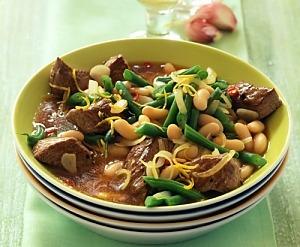 Рагу з яловичини і квасолі