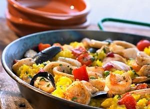 Испанская паэлья с морепродуктами