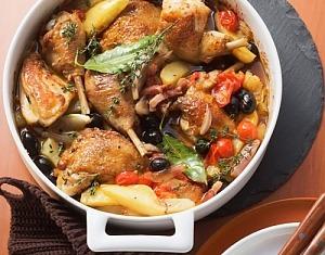 Курка по-прованськи з овочами