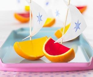 Фруктові желейні кораблики для дітей