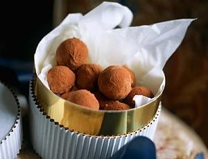 Трюфели из черного шоколада