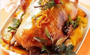 Рождественская утка, запеченная с апельсинами