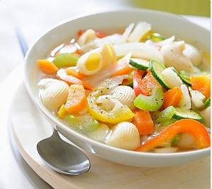 Овощной суп с макаронами