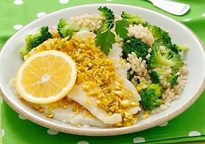 Филе судака на пару с рисом