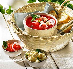 Суп из арбуза с фетой