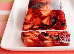 Желе с ягодами