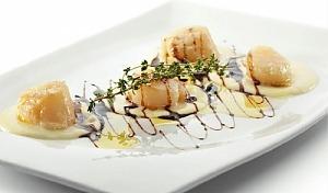 Гребешки в сливочном соусе с тимьяном