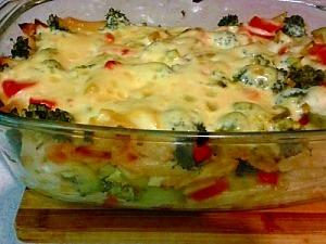 Запеканка из макарон с овощами