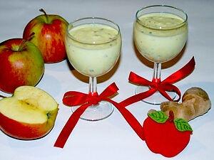 Густой фруктово-овощной коктейль
