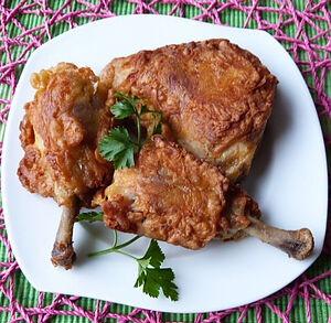 Куриные окорочка в пикантном кляре