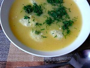 Гарбузовий суп з фрикадельками
