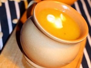 Суп из тыквы с голубым сыром