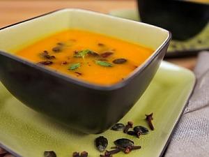 Суп из тыквы и груши