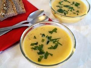 Суп из тыквы с беконом и имбирем