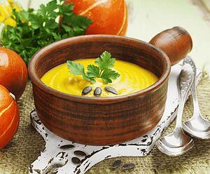 Вершковий крем-суп із гарбуза