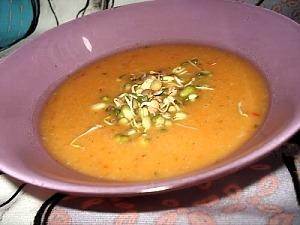 Гарбузовий суп-пюре на курячому бульйоні
