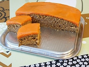 Морковный пирог с корицей