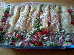 Каннеллони с рикоттой и овощами