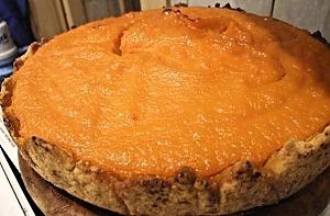 Песочный пирог с тыквенной начинкой