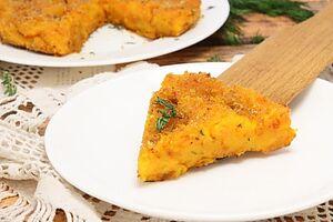Постный морковный пирог