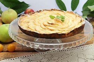 Яблучний пиріг без яєць