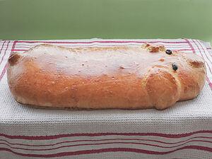 Кулебяка с мясом и капустой