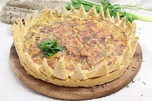 Оригинальный пирог с сыром и зеленью