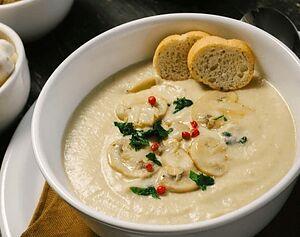 Крем-суп из картофеля и шампиньонов