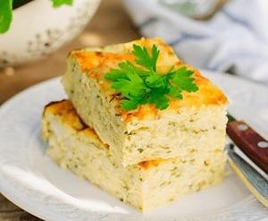 Рисовая запеканка с кабачками
