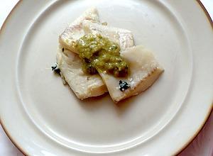 Рыба вареная с овощами