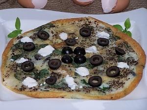 Омлет с оливками