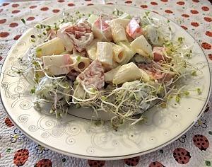 Салат с брюссельской капустой и крабовыми палочками