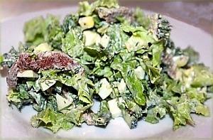 Салат с языком, яйцом и зеленью