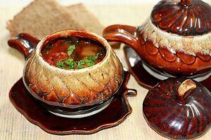 Чанахи в горшочках из баранины